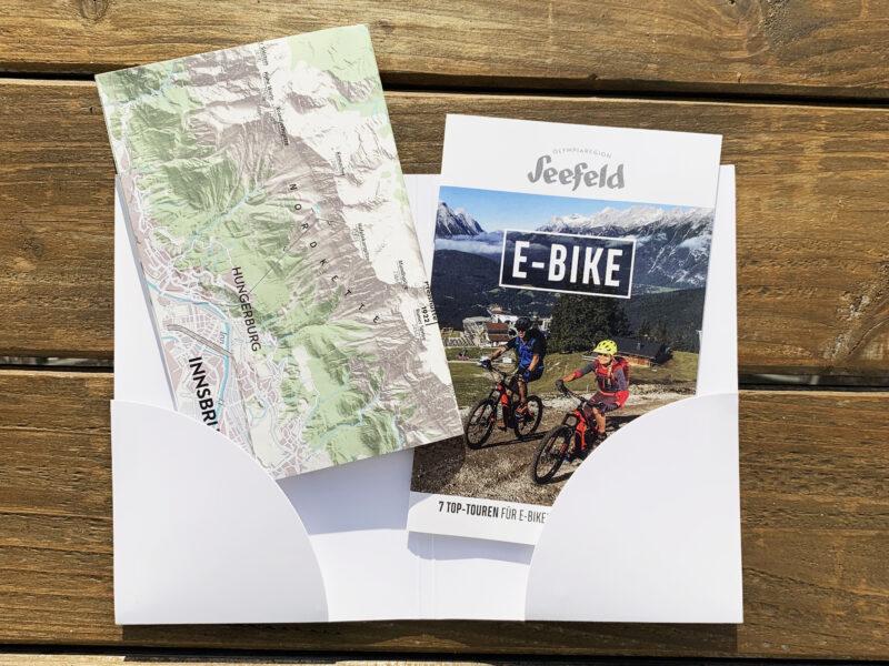 E-Bike Guide, UV-Offset, Wiesendanger medien, Druckerei, Wanderkarte, Falz