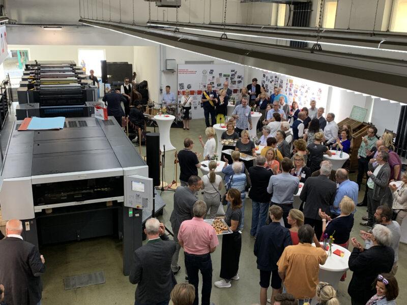 50 Jahre Wiesendanger medien, Druckerei, UV-Offset, Open House