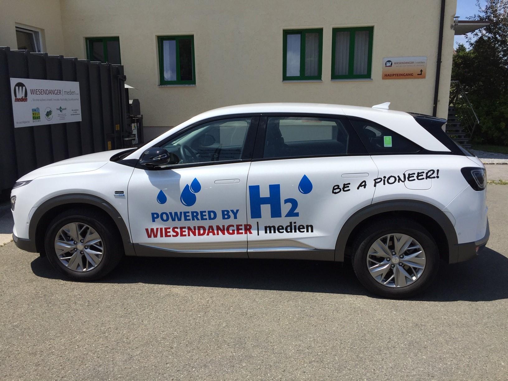 Nexo Beklebt Nexo 2 Wasserstoffauto Wiesendanger medien Druckerei