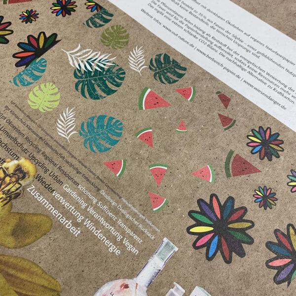 Silphie Papier Umwelt recycling Deckweiß 4C Skala UV Offset druck